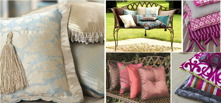 how to make cushions with feathers on the outside